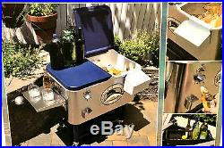 100 Quart Tommy Bahama Rolling Stainless Steel Party Cooler NEW 2016 RELAX Model