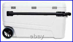 110 Qt Glide Pro Portable Large Ice Chest Wheeled Cooler