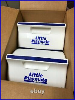 1980s RARE VINTAGE Little Playmate Igloo Cooler blue BRAND NEW 4 PACK 7 QT. X4