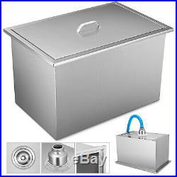 20.6x13.6 Outdoor Kitchen Drop-in Ice Chest Bin Buckets 304 Beer Cooler Box