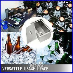 21x16.8 Outdoor Kitchen Ice Chest Stainless Steel Cooler Beer Beverage Drop In