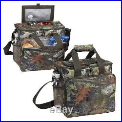24 cans carry fishing beach BBQ lunch picnic food insulated camo cooler P7655