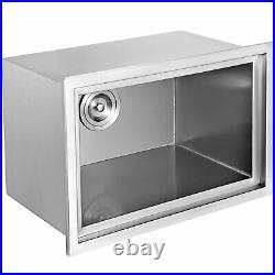 27X18 Outdoor Kitchen Drop-in Ice Chest Bin Cooler 304 Beer Ice Buckets Box