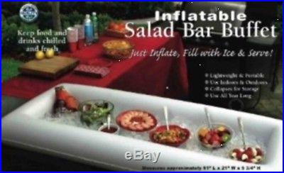 2 Pack Inflatable Salad Bar Buffet Server/New/Removed from box for shipping cost