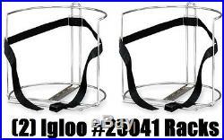 (2) ea Igloo 25041 Heavy Gauge 2 5 gallon Water Cooler Holder Truck Mount Rack
