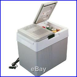33 Qt Thermoelectric Car Cooler & Heater, 12 Volt Electric Compact Travel Fridge