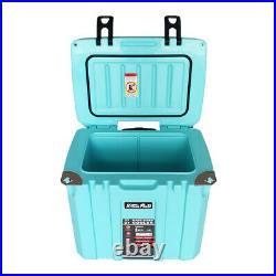 37-Quart Ice Chest Cooler Bottle Opener Insulated with Telescoping Handle Aqua