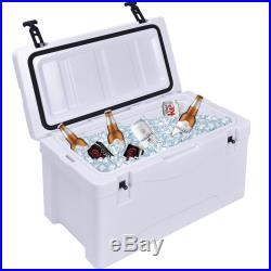 40 Quart Outdoor Insulated Fishing Hunting Cooler Ice Chest Heavy Duty White
