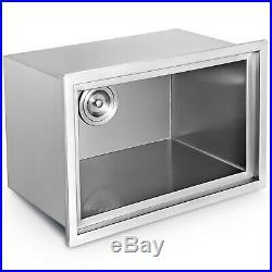 45qt Outdoor/Indoor Drop-in Ice Chest Cooler 304 Steel Patio Ice Beer Bin Box