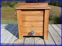 48 Qt Cooler Outdoor Knotty Pine Wood Cooler Ice Chest Coleman Deck Patio