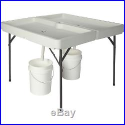 48in. X 48in. Foldable Ice Party Table