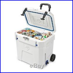 50qt Insulated Rolling Cooler Heavy Duty Wheeled 7 Day Ice Chest Camping