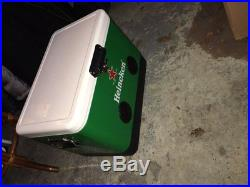 54 Qt Green Heineken Party Cooler With High-Powered Bluetooth Speakers