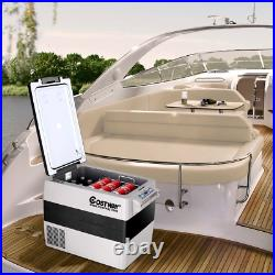 55 Qt Portable Thermoelectric Camping Electric Car Cooler Refrigerator Beverage