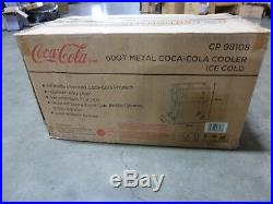 60 qt Metal Coca-Cola Cooler Ice Cold FREE SHIPPING