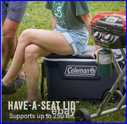 62 Qt Wheeled Cooler, 28.2 W, Blue Nights