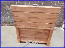 63 Can Outdoor Wood Cooler Chest Ice Box Bottle Opener Deck Patio Coleman 48 QT