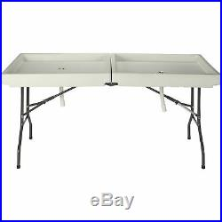 71in. X 31in. Outdoor Foldable Ice Party Bar Cooler Sink Drainage Tailgate Table
