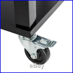 80QT Patio Portable Rolling Cooler Cart withTray Bottle Opener Outdoor Ice Chest