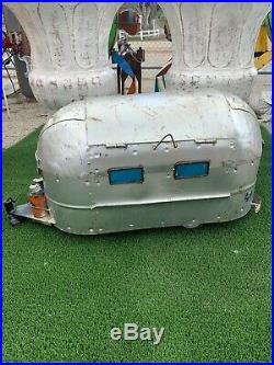 Airstream Ice Chest Cooler 100% Handcrafted one of a kind! Yard Art Camping