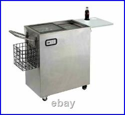 Avanti Portable Outdoor Beverage Cooler Stainless Steel-BRAND NEW
