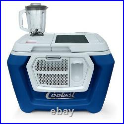 BRAND NEW Classic Coolest Cooler with Solar Panel Blue
