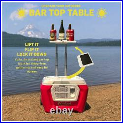 BRAND NEW Classic Coolest Cooler with Solar Panel Red