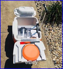 BRAND NEW! Orange COOLEST COOLER Built In Blender Bluetooth Speaker LED Light