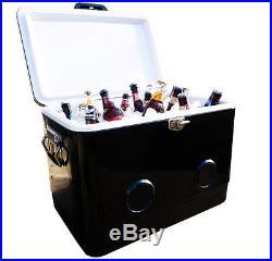 BREKX 54QT Black Party Cooler with Crisp Bluetooth Speakers
