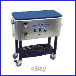 Beach Rolling Bar Pool Ice Cooler Chest Deck Party Portable Patio Outdoor Steel
