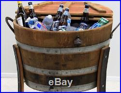Beer Wine Cooler Barrel Handmade 30 gal Outdoor Indoor Patio Garden Pool Party
