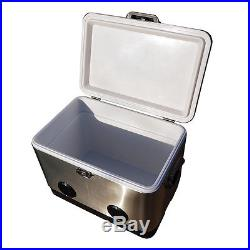 BrekX 54 Quart. Stainless Steel Party Cooler with Speakers