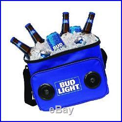 Bud Light Soft Cooler Bluetooth Speaker Travel Cooler with Built in Speakers