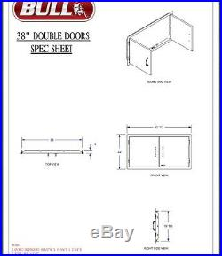 Bull Outdoor Products 38 Inch Double Doors Model # 34000 We Will Beat Any Price