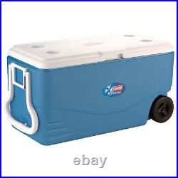 COOLER 100 QUART LARGE Extreme Portable Outdoor Picnic Beach Camping Wheeled