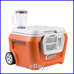 COOLEST COOLER -New in BOX -Orange-Blender -USB Charger -Speaker -FREE Ship