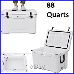 Car Cooler Ice Chest Portable With Wheel 80 Quart Capacity Travel Camping Fridge