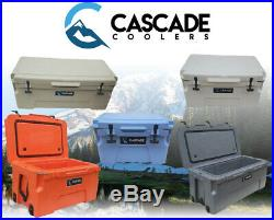 Cascade Coolers 25l 50l 75l Pro Series Rotomold Ice Chest Cooler (5 Colors)
