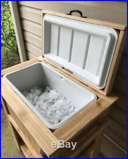Cedar 48qt LSU Themed Wooden Ice Chest Cooler