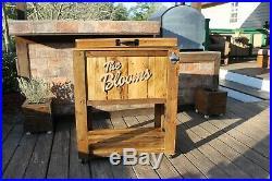 Cedar Plank Wood Cooler, 48 Quart Rustic Ice Chest Coleman 48qt Cooler Stand