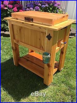 Cedar cooler Cart
