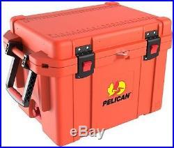 Chest Cooler Pelican ProGear 35 Qt. Orange Elite Marine Stainless Steel Hardware