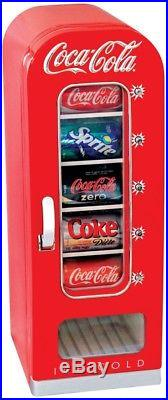Coca-Cola 5 Gallon Plastic Beverage Cooler Push Buttone Vending Fridge