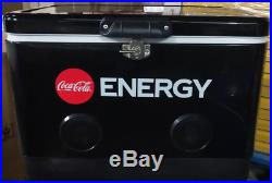 Coke Energy 54 quart Cooler with Bluetooth Speakers
