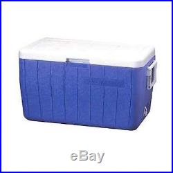 Coleman 48-Quart Cooler, Ice Chest, BBQ, Picnic, Camping, Blue FREE SHIPPING