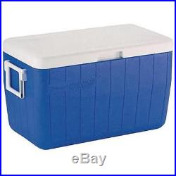 Coleman 48 Quart Qt Cooler Ice Chest Camping Blue Box Picnic Outdoor Party NEW
