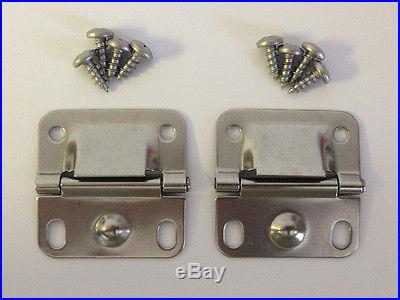 Coleman Cooler Ice Chest Stainless Steel Replacement Lid Hinges 6155-5741 NEW