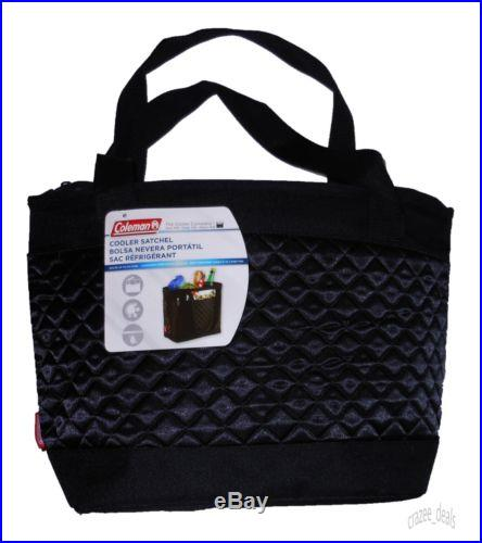 Coleman Cooler Satchel Tote Bag Lunch Picnic Black Holds 24 Cans NEW