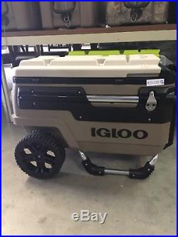 Coleman Wheeled Cooler Igloo Trailmate Brown 70 Quart Capacity Brown/ Tan