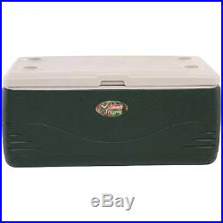 Coleman Xtreme 150 qt Cooler, Green, four built-in cup holders